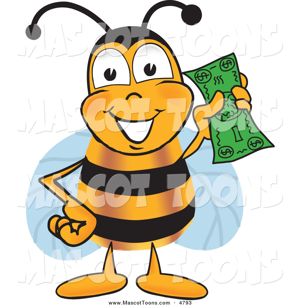 Cartoon Characters Yellow : Royalty free stock mascot designs of bee cartoon characters