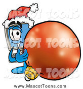 Cartoon of a Desktop Computer Mascot with a Christmas Ornament by Toons4Biz