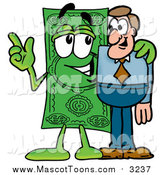 December 22nd, 2015: Cartoon of a Dollar Bill Mascot Talking to a Business Man by Toons4Biz