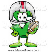 Cartoon of a Dollar Sign Mascot Holding a Football by Toons4Biz