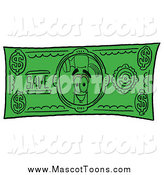 Cartoon of a Hammer Mascot Dollar Bill by Toons4Biz