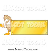 September 25th, 2014: Cartoon of a Peanut Mascot with a Gold Plaque by Toons4Biz