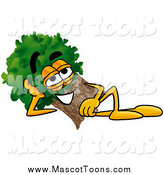 Cartoon of a Tree Mascot Resting by Toons4Biz