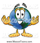 Cartoon of an Earth Mascot Welcoming by Toons4Biz