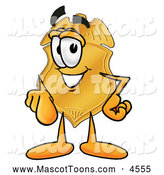 Mascot Cartoon of a Police Badge Mascot Cartoon Character Pointing at the Viewer by Toons4Biz