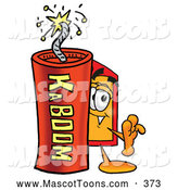 November 24th, 2013: Mascot Cartoon of a Price Tag Mascot with Dynamite by Toons4Biz