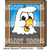 Mascot Vector Cartoon of a Bald Eagle Portrait by Toons4Biz