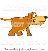Mascot Vector Cartoon of a Brown Pointer Dog Mascot Cartoon Character Pointing While Sniffing Something out by Toons4Biz