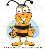 Mascot Vector Cartoon of a Bumble Bee Mascot Cartoon Character Pointing at the ViewerBumble Bee Mascot Cartoon Character Pointing at the Viewer by Toons4Biz
