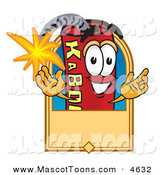 Mascot Vector Cartoon of a Cheerful Dynamite Mascot Cartoon Character with a Tan Label by Toons4Biz