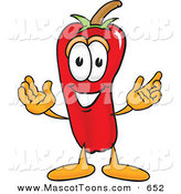 Mascot Vector Cartoon of a Cheerful Red Chili Pepper Mascot Cartoon Character by Toons4Biz