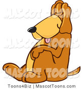 Mascot Vector Cartoon of a Cute Sleeping Brown Dog Mascot Cartoon Character, Tired and Worn Out, Sleeping While Sitting up by Toons4Biz