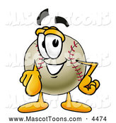 Mascot Vector Cartoon of a Friendly Baseball Mascot Cartoon Character Pointing at the Viewer by Toons4Biz