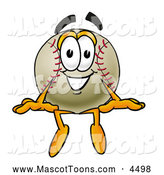 Mascot Vector Cartoon of a Friendly Baseball Mascot Cartoon Character Sitting by Toons4Biz