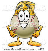 Mascot Vector Cartoon of a Friendly Baseball Mascot Cartoon Character Wearing a Helmet by Toons4Biz