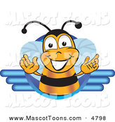 Mascot Vector Cartoon of a Friendly Black and Yellow Bee Mascot Cartoon Character LogoFriendly Black and Yellow Bee Mascot Cartoon Character Logo by Toons4Biz