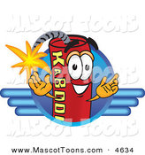Mascot Vector Cartoon of a Grinning Dynamite Mascot Cartoon Character Logo by Toons4Biz