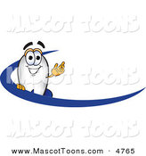 Mascot Vector Cartoon of a Happy Blimp Mascot Cartoon Character with a Blue Dash by Toons4Biz