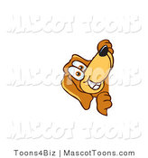 Mascot Vector Cartoon of a Happy Brown Dog Mascot Cartoon Character Peeping Around a Corner by Toons4Biz