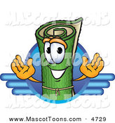 Mascot Vector Cartoon of a Happy Green Carpet Mascot Cartoon Character Logo with Blue Lines by Toons4Biz
