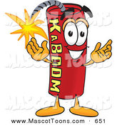 Mascot Vector Cartoon of a Lit Stick of Dynamite Mascot Cartoon Character by Toons4Biz