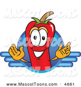 Mascot Vector Cartoon of a Red Chili Pepper Mascot Cartoon Character Logo on White by Toons4Biz