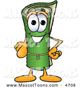 Mascot Vector Cartoon of a Rolled Green Carpet Mascot Cartoon Character Pointing at the Viewer by Toons4Biz
