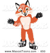 Mascot Vector Cartoon of a Smiling Fox Mascot Cartoon Character by Toons4Biz