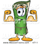 Mascot Vector Cartoon of a Strong Green Carpet Mascot Cartoon Character Flexing His Arm Muscles by Toons4Biz