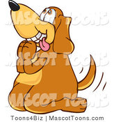 Mascot Vector Cartoon of a Sweet Brown Dog Mascot Cartoon Character Begging for a Walk or TreatsSweet Brown Dog Mascot Cartoon Character Begging for a Walk or Treats by Toons4Biz