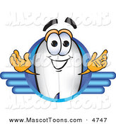 Mascot Vector Cartoon of a White Blimp Mascot Cartoon Character Logo by Toons4Biz