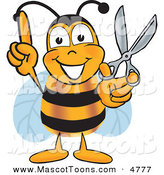 Mascot Vector Cartoon of a Yellow Bumblebee Mascot Cartoon Character by Toons4Biz