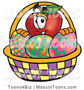 Mascot Vector Cartoon of an Easter Apple by Toons4Biz