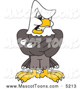March 28th, 2016: Vector Cartoon of a Bald Eagle Mascot Being Stern by Toons4Biz