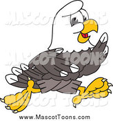 Vector Cartoon of a Bald Eagle Running by Toons4Biz