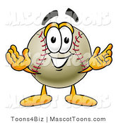 Vector Cartoon of a Baseball Mascot by Toons4Biz