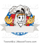 Vector Cartoon of a Chef Hat American Circle by Toons4Biz