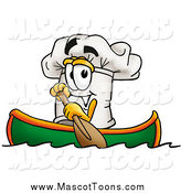 January 16th, 2015: Vector Cartoon of a Chefs Hat Character Rowing a Boat by Toons4Biz