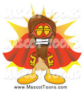 Vector Cartoon of a Chicken Drumstick Super Hero Mascot by Toons4Biz