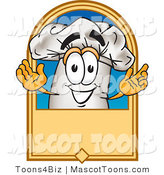 Vector Cartoon of a Happy Chef Hat and Label by Toons4Biz