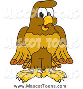 Vector Cartoon of a Happy Hawk Mascot by Toons4Biz