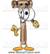 Vector Cartoon of a Mallet Mascot Searching with a Magnifying Glass by Toons4Biz