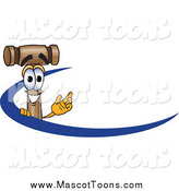 December 30th, 2014: Vector Cartoon of a Mallet Mascot with a Blue Dash by Toons4Biz