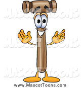 October 10th, 2014: Vector Cartoon of a Mallet Mascot with Open Arms by Toons4Biz