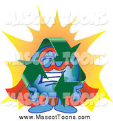 Vector Cartoon of a Recycle Earth Mascot Super Hero by Toons4Biz