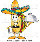 Vector Cartoon of a Taco Mascot with a Platter by Toons4Biz