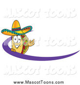Vector Cartoon of a Taco Mascot with a Swoosh by Toons4Biz