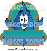 Vector Cartoon of a Water Drop Mascot Label by Toons4Biz