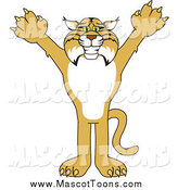 Vector of a Bobcat Mascot Reaching out by Toons4Biz