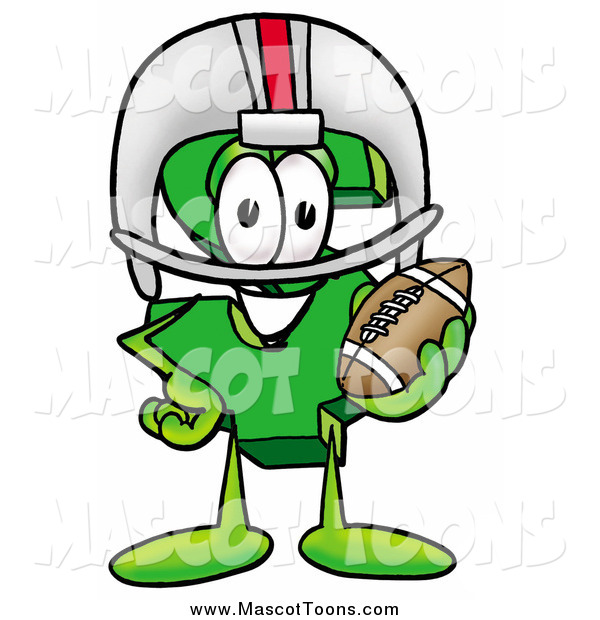 Cartoon of a Dollar Sign Mascot Holding a Football